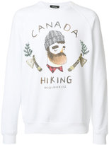 DSQUARED2 Lumberjack print sweatshirt - men - Cotton/Spandex/Elastane - M