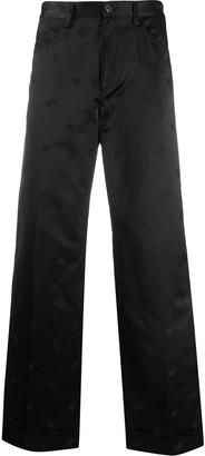Marni Satin Turn Up Cuff Trousers