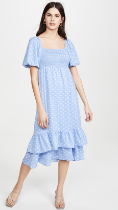 ENGLISH FACTORY Dot Pattern Long Dress