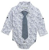 Sovereign Code Sovereign CodeTM Splatter Bodysuit and Tie in Blue/White