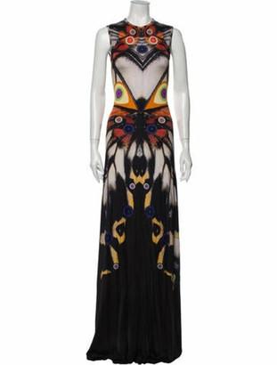 Givenchy Printed Long Dress Black
