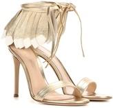 Gianvito Rossi Queen Metallic Leather Sandals
