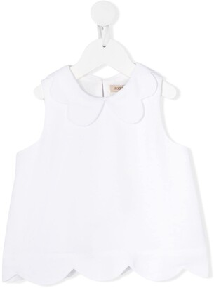 Hucklebones London Scalloped shell top