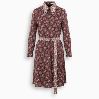 Chloé Cashmere print silk dress
