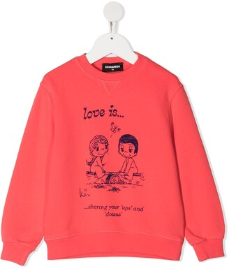DSQUARED2 Love Print Sweatshirt