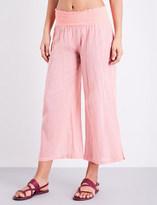 Heidi Klein Capri flared cotton trousers