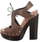 Balenciaga Studded Platform Sandals