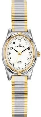 Certus 642385 - Ladies Watch - Analogue Quartz - White Dial - Two-Tone Metal Bracelet