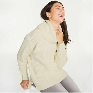 Joe Fresh Women's Cowl Neck Sweater, Off White (Size XS)