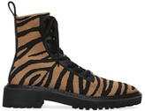 Loeffler Randall Brady Zebra-Stripe Knit Combat Boots