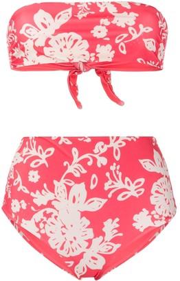 RED Valentino Floral Pattern Bikini Set