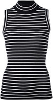 MICHAEL Michael Kors horizontal stripe sleeveless top - women - Nylon/Viscose - S
