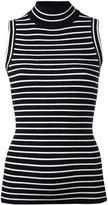 MICHAEL Michael Kors horizontal stripe sleeveless top - women - Nylon/Viscose - XS