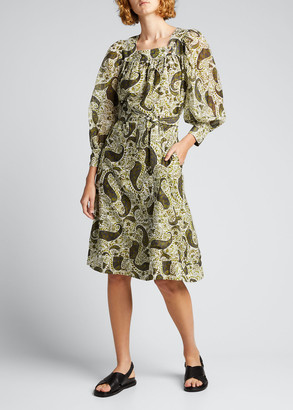 Ciao Lucia Violetta Belted Paisley Dress