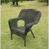 International Caravan Monaco All-Weather Wicker Deep Seated Lounge Chair - Set of 2