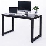 Merax 16106 Modern Simple Design Computer Desk, Table, Workstation for Home and Office, Black/Espresso