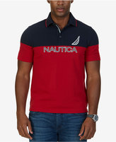 Nautica Men's Big & Tall Classic-Fit Colorblocked Logo Polo