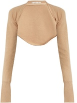 Palmer Harding PALMER//HARDING Open-front cropped wool-knit top