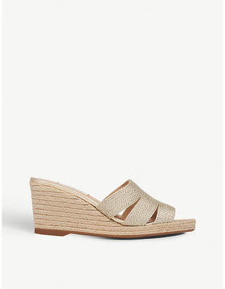LK Bennett Magnolia metallic rope wedge mules