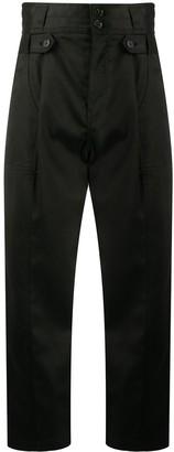 Nili Lotan High-Rise Cropped Trousers