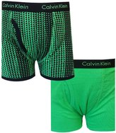 Calvin Klein Boys Solid and Geometric 2 Pack boxer briefs for boys (16/18)