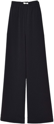 Co Wide Leg Elastic Waist Pant in Black