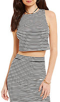 Roxy Plans I Was Chasing Striped Knit Cropped Tank Top
