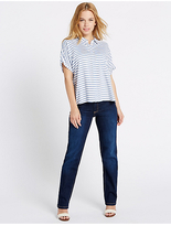 M&S Collection PETITE Mid Rise Straight Leg Jeans