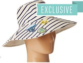 Hat Attack Reversible Sun Hat w/ Nautical Patches Caps