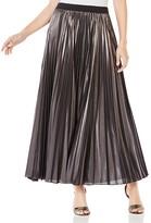 BCBGMAXAZRIA Dallin Metallic Pleated Maxi Skirt