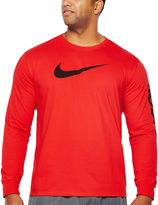 Nike Long Sleeve Crew Neck T-Shirt-Big and Tall