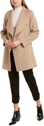 Vince Draped Sweaterback Wool-Blend Coat