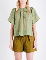 Vanessa Bruno Glory embroidered linen blouse
