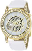 Akribos XXIV Women's AKR475WT Bravura Collection Skeleton Automatic Watch