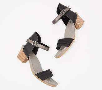 Earth Scrunched Nubuck Heeled Sandals -Ivy Symphony