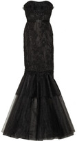 Notte by Marchesa Embellished lace and tulle gown