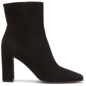 Gianvito Rossi Square-toe 85 Suede Ankle Boots - Black