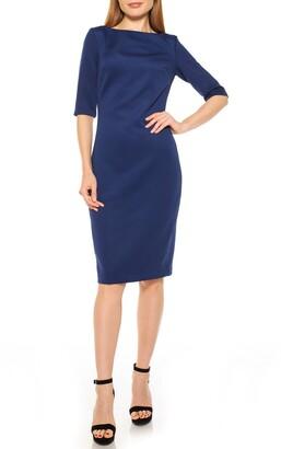 Alexia Admor Boatneck Sheath Dress