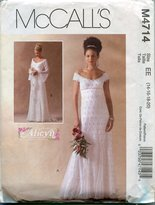 Mccall's MCCALLS PATTERN M4714 MISSES/MISS PETITE LINED BRIDAL GOWNS SIZE EE 1420