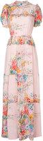 No.21 floral print ruffle detail dress
