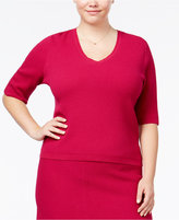 Rachel Roy Curvy Trendy Plus Size Textured Sweater