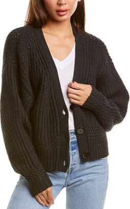 Autumn Cashmere V-Neck Cashmere & Wool-Blend Cardigan