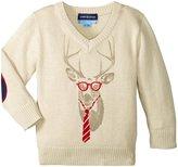 Andy & Evan Reindeer Sweater (Baby) - Light Beige - 3/6 - 3-6 Months