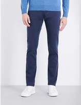 Corneliani Slim-fit tapered stretch-denim jeans
