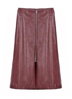 Burgundy Leather Skirt - ShopStyle