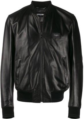 Dolce & Gabbana Bomber-Style Leather Jacket