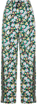 Maje Prague Floral-print Woven Wide-leg Pants