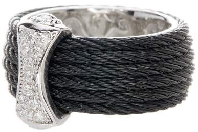 Alor 18K White Gold Diamond Detail Multi Strand Ring - 0.12 ctw