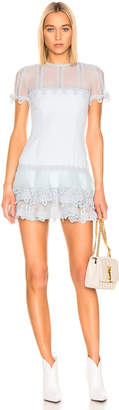 Jonathan Simkhai Guipure Lace Mini Dress in Light Blue | FWRD
