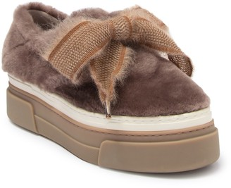 Attilio Giusti Leombruni Genuine Shearling Platform Sneaker